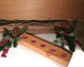 Wooden Shelf - Wood Candle Holder Shelf - Rustic Tea Light Candle Holders