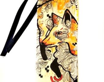 Bookmark - Fox bookmark - Art Bookmark - Artist Bookmark - Watercolor bookmark - Watercolor art - Watercolor Fox