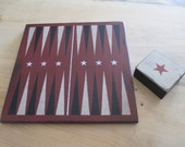 Made To Order Backgammon Game Set with Box, Choice of Color