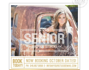 Senior Marketing Template, Senior Marketing Board, Senior Photography Marketing Templates for Photoshop  | Senior Overlay - AD169