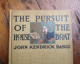 1897 Rare Book , The Pursuit Of The House Boat, Under the leadership of Sherlock Holmes Esq