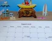 Neil the Tortoise 2016 Calendar, Calendar, 2016 Calendar, Turtle Calendar, Tortoise Calendar