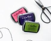 ColorBox Ink Pad - Pigment Ink Pad - Stamp Pad - Ink Pad - Rubber Stamp Ink - Black Ink Pad- Blue Ink Pad - Red Ink Pad -Green Ink Pad J4000
