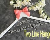 HUGE SALE Wedding hanger/ SALE / personalized Bridal hanger/Two Tier hanger / perfect bridal shower gift , u pick any name , bridal party gi
