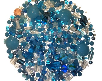 La Playa Azul Collection - 1 lb loose beads
