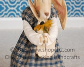 Spring Blessings Bunny, Bunny Rabbit, Dressed Rabbit