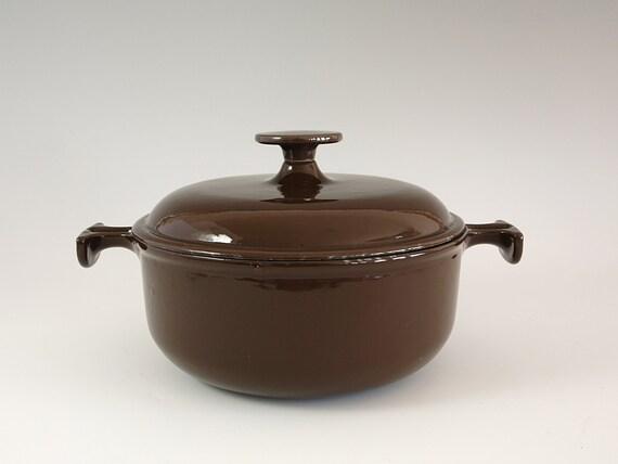 vintage le creuset enzo mari la mama line casserole pot oven. Black Bedroom Furniture Sets. Home Design Ideas