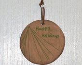 "Handmade, Ceramic ""Happy Holidays"" Christmas Decoration"