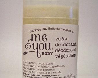 Vegan Deodorant-Tea Tree Oil Scent-Handmade-Natural & Nourishing