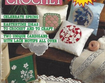 Magic Crochet Magazine - February 1986- Issue 40 - Crochet Pattern Book, Thread Crochet, Doily Pattern, Doilies