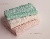 Newborn Ruffle Lace Wrap, Newborn Photo Prop, Baby Girl Ruffle Wrap, Newborn Stretch Lace Wrap, 5 colors, RTS