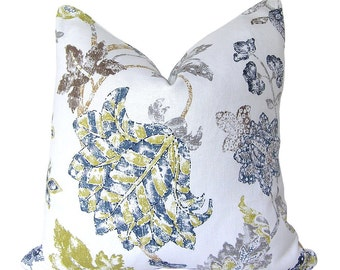 Custom Pillow Cover / Alexander by Braemore in Indigo / Blue Navy Floral / Both Sides / Made to Order