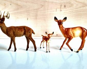 Vintage Plastic Deer Family