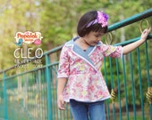 CLEO Reversible Jacket & Coat PDF Pattern by Popolok Design - 8 Sizes Girl Age 1 to 8