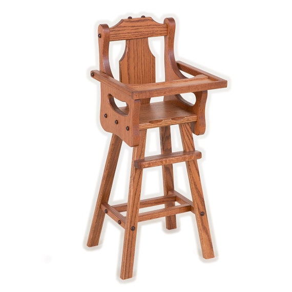 Baby Doll High Chair Solid Oak Amish By Savingshepherd On Etsy
