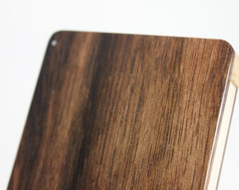 Wood Business Card Holder (Striped Ebony)