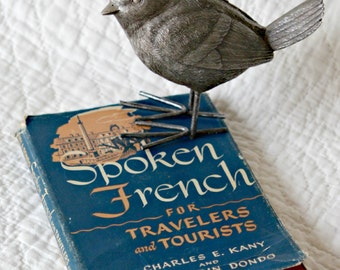 Vintage 1946 Spoken French for Travelers and Tourists Book--Conversational Language