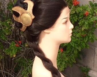 CUSTOM COLOR Professional Lace Front Princess Leia Slave Couture Wig