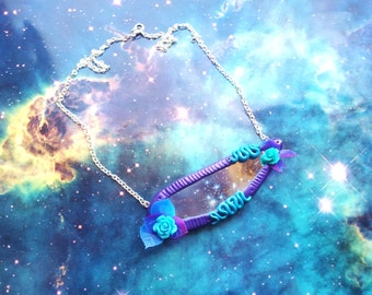 Cosmic mermaid starseed mirror necklace