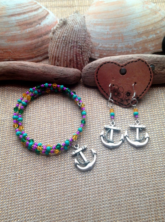 Colorful Anchor Bracelet Set