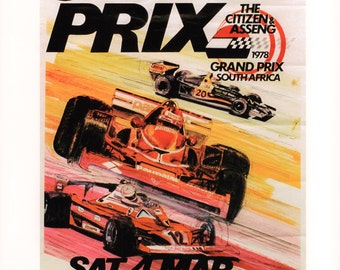 The South African Grand Prix, 1978 Poster Print