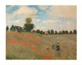 Wild Poppies by Claude Monet, 1873 Poster Print