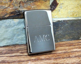 Personalized Black Ice Zippo Lighter - Engraved - Monogrammed- Groomsmen Gift-Birthday Gift (203)