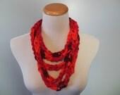 Rich Reds Chain Fashion Scarf