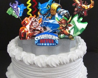Skylanders Trap Team Cake Topper 3d Food Fight Snap Shot Wallop Bushwhack Birthday Party Jurassic World