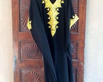 Traditional Embroidered Bahraini kaftan maxi dress