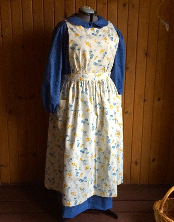 Woman S Extra Large 45 37 46 Prairie Dress Apron And By