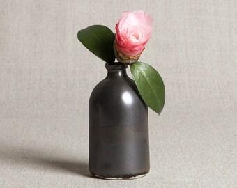 Black Minimalist Bud Vase