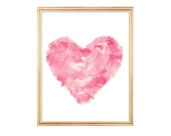 Modern Nursery Art, Pink Abstract Art, 8x10 Watercolor Print, Modern Pink Nursery Decor, Pink Nursery Art, Modern Nursery Art, Modern Baby
