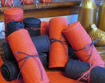 """Coral Burlap Ribbon, 6"""" Wide, Coral Burlap Garland, Coral Chair Sash, Burlap Bow, Coral Burlap, Easter Burlap, Shower Decor"""