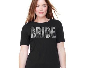Super Bling Bride TShirt - Black Bride Tank, Bachelorette Shirt, Bachelorette Party