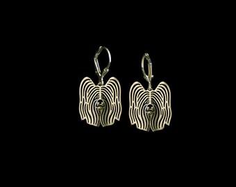 Skye Terrier earrings - Gold