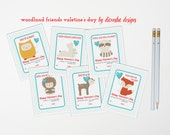 Valentine's Day Kids Classroom Card - Instant Download - Printable DIY - Boy Girl