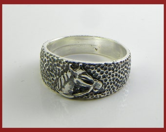 Horse Ring in Sterling Silver 925