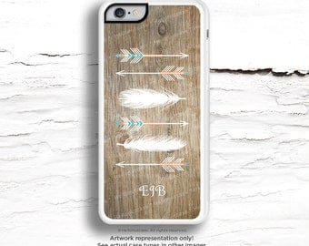 iPhone 7 Case Personalized Feather Arrow iPhone 7 Plus iPhone 6s Case iPhone SE Case iPhone 6 Case iPhone 6s Plus iPhone iPhone 5S Case I127