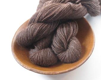 DK Alpaca/Merino 85/15 Undyed 3 ply Yarn Fiber for Knitting Crochet Weaving Brown