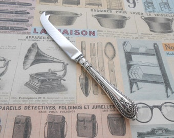 Cheese Knife with Antique Silver Plated Handle Reclaimed Cutlery Handle Upcycled by LondonCutlers