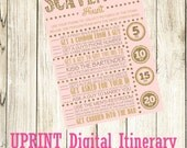 INSTANT DOWNLOAD - Bachelorette Party or Hens Party Game - Scavenger Hunt Pink and Gold Glitter