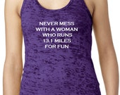 Fun Burnout Half Marathon Marathon Running shirts