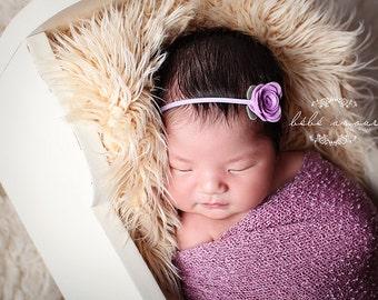 Baby Headband - Mini Single Rose Headbands - pick your color