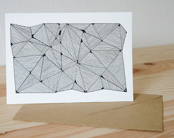 "Greeting card ""Triangles"", 210mm x 148mm"