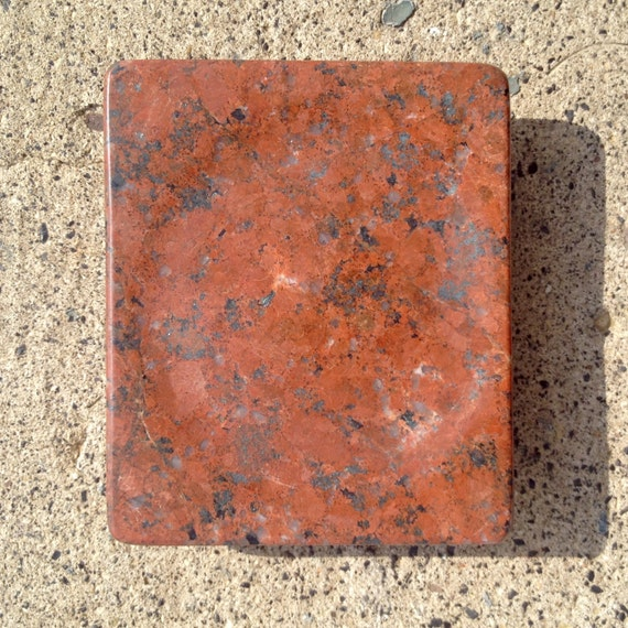 Red Dragon Granite Stone : Red dragon granite coaster soap dish