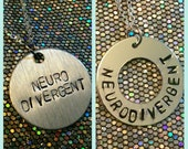 """SALE! Autism Acceptance """"Neurodivergent"""" Washer or Disc (Necklace or Keychain)"""