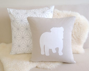 English Bulldog Pillow Cover - Modern Minimalist