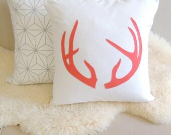 Antler Pillow Cover - Modern Chalet