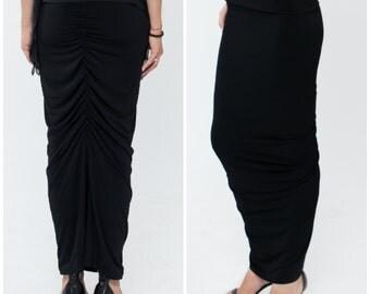 Made to order / Maxi skirt / Mermaid skirt / Black skirt / Long skirt / Jersey skirt / Maxi penicl skirt / Jersey pencil skirt